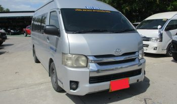 2012 – TOYOTA 2WD 2.5 MT COMMUTER SILVER – 4890 full